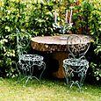 Chaises créées par Michel Charrier pour le jardin de Lolita Lempicka