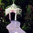 Allée peinte et glorietteLolita Lempicka créées par Michel Charrier