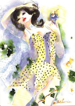 robe-à-pois-insouciance-d'un-dimanche-à-la-campagne-comme-Un-film-de-Renoir-sensualité-après-midi-dété