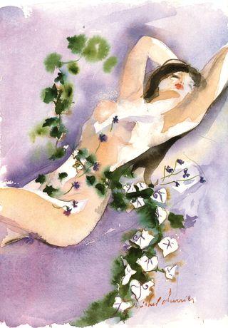 Note-olfactive-verte-et-violette-aquarelle-lolitaLempicka-Lolita-Lempicka-composition-parfum-de-violette-et-lierre-composer-une-aquarelle-comme-un-parfumLierre-Violette