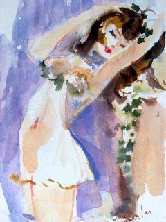 Aquarelle-Michel-Charrier-premier-Parfum-de-Lolita