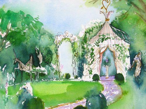 aquarelle-du-jardin-de-lolita-lempicka-par-michel-charrier