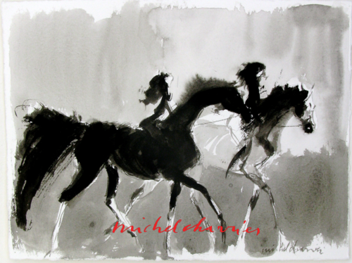 peinture de cheval, peinture de chevaux peintre de chevaux Michel Charrier- peintre équestre Michel Charrier