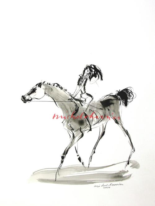 Dessin et peinture de cheval, dessins et peinture de chevaux peintre de chevaux Michel Charrier- peintre équestre Michel Charrier