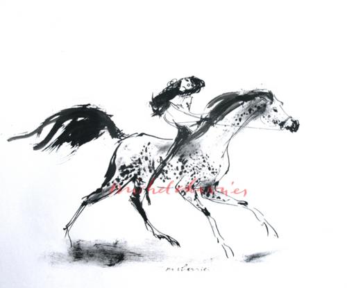 Elle sa cavalière préférée-chevalmode-equestrianmood-equestrianfashion-horsewoman-myhorse-riderpinupgirl-elegantrider-glamourosrider-glamouroushorse-equestrianstyle-MichelCharrier-