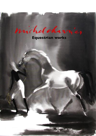 Equestrian works Michel Charrier-Peintures et dessins de chevaux Michel Charrier