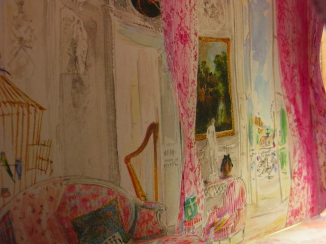 Aquarelle d'intérieurs l'esprit décoration Ladurée-Michel Charrier-Aquarelles d'interieurs-